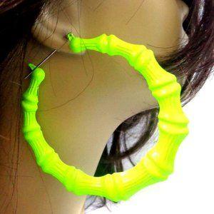 Neon Bamboo Earrings